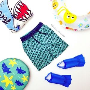 Old Navy Boys Shark Swim Trunks!